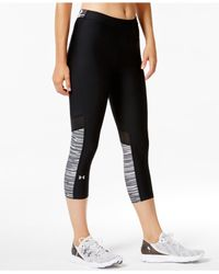 Under Armour | Black Heatgear® Alpha Cropped Leggings | Lyst