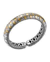 John Hardy | Metallic Naga Gold & Silver Flex Cuff | Lyst