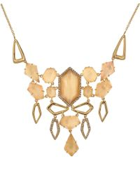 Alexis Bittar - Metallic Goldtone Citrine Articulated Bib Necklace - Lyst