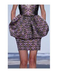 Vera Wang   Pink Flower Mini Skirt   Lyst