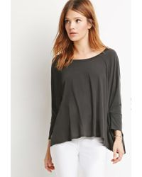 Forever 21 - Black Boxy Dolman Top - Lyst
