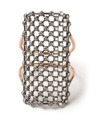 Diane Kordas - Metallic Rectangle Mesh Ring - Lyst