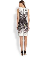 Yigal Azrouël   White Scuba Branch Print Dress   Lyst