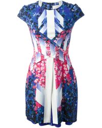 Peter Pilotto | Blue Abstract Floral Dress | Lyst
