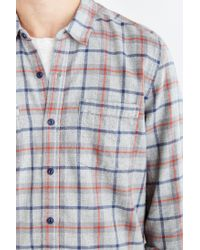 Stapleford - Gray Bates Acid Plaid Flannel Button-down Shirt for Men - Lyst