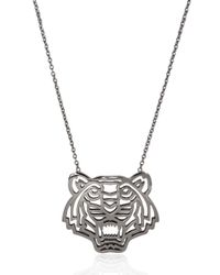 KENZO - Black Tiger Pendant Necklace - Lyst