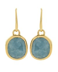 Monica Vinader | Blue Aquamarine Siren Wire Earrings | Lyst