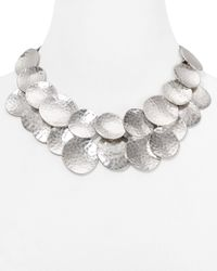 Robert Lee Morris | Metallic Disc Statement Necklace, 17"