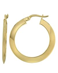 Lord & Taylor | Metallic 14kt Yellow Gold Polished Hoop Earrings | Lyst