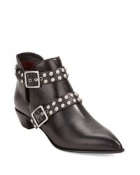 Marc By Marc Jacobs - Black Carroll Studded Leather Booties - Lyst