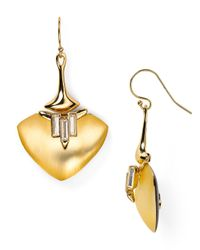 Alexis Bittar - Metallic Lucite Liquid Metal Crystal Baguette Wire Earrings - Lyst