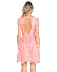Alice + Olivia - Pink Zenden Scallop Edge Aline Dress - Lyst