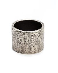 M. Cohen | Metallic Carved Tube Ring for Men | Lyst