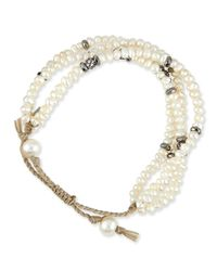 Tai - White Mother-of-pearl Multi-strand Bracelet - Lyst