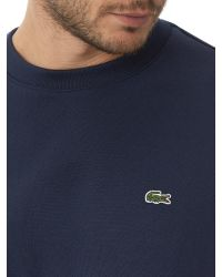 Lacoste | Blue Crew Neck Sweatshirt for Men | Lyst