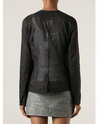 MM6 by Maison Martin Margiela - Black Transparent Blazer - Lyst