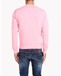 DSquared² - Pink Dean Fit Sweatshirt for Men - Lyst