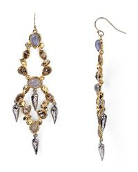 Alexis Bittar | Metallic Labradorite Rocky Chandelier Earrings | Lyst