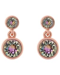Karen Millen - Metallic Swarovski Crystal Dot Drop Earrings - Lyst