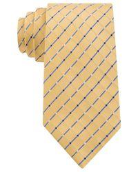 Geoffrey Beene - Yellow City Grid Tie for Men - Lyst