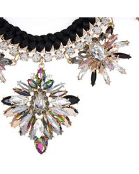 River Island | Black Statement Embellished Necklace | Lyst
