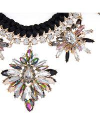 River Island - Black Statement Embellished Necklace - Lyst