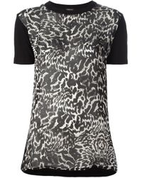 Giambattista Valli - Black Leopard Print Top - Lyst