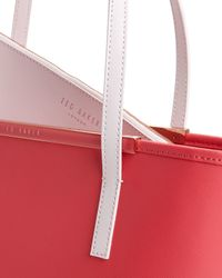 Ted Baker - Pink Estele Small Crosshatch Shopper Bag - Lyst
