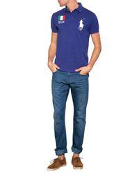 Ralph Lauren Blue Label - Blue Cotton Flag Polo Shirt for Men - Lyst