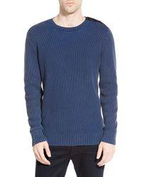 G-Star RAW | Blue 'batt' Military Crewneck Sweater for Men | Lyst