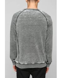 BDG - Green Burnout Pullover Sweatshirt for Men - Lyst