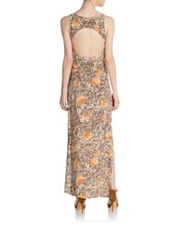 For Love & Lemons - Brown Midnight Circle Back Maxi Dress - Lyst