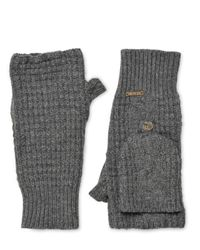 Bark - Gray Wool Blend Fingerless Mittens for Men - Lyst