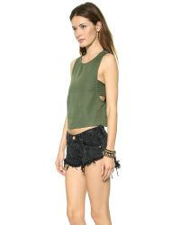 House of Harlow 1960 | Green Emery Top | Lyst