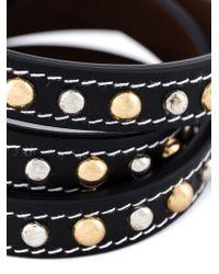 Givenchy | Black Studded Wrap Bracelet | Lyst