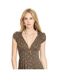 Denim & Supply Ralph Lauren - Green Floral Cutout-back Dress - Lyst