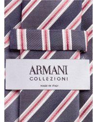 Armani - Blue Regimental Stripe Silk Tie for Men - Lyst