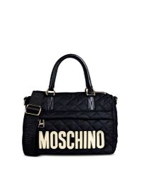 Moschino - Black Medium Fabric Bag - Lyst