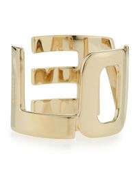 Givenchy | Metallic Brass Love Cuff Bracelet | Lyst