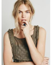 Free People | Metallic Womens New Moon Ring | Lyst
