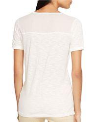 Lauren by Ralph Lauren | White Keyhole Shirt | Lyst