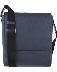 Mulberry - Blue Maxwell Slim Grained Leather Messenger for Men - Lyst