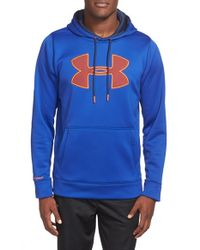 Under Armour - Blue 'big Logo' Water Resistant Ua Storm Hoodie for Men - Lyst