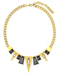 Vince Camuto | Metallic Gold-Tone Multi Shape Frontal Necklace | Lyst