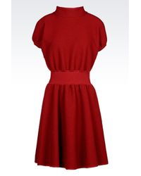 Emporio Armani | Red Dress In Virgin Wool | Lyst