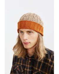 Urban Outfitters | Natural Contrast Cuff Beanie for Men | Lyst