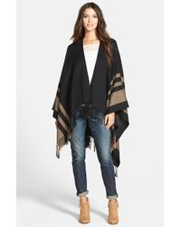Hinge | Black Stripe Cape | Lyst