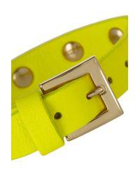 Valentino - Yellow Rockstud Small Neon Leather Bracelet - Lyst