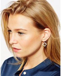 ASOS | Multicolor Limited Edition Pavã© Cube Swing Earrings | Lyst