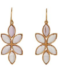 Irene Neuwirth | Metallic Women's Floral Drop Earrings | Lyst